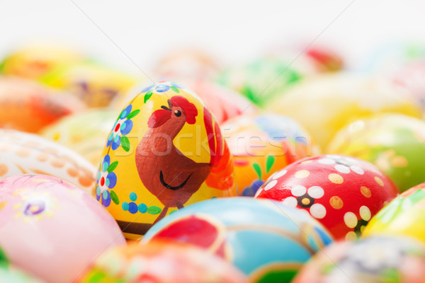 Handmade Easter eggs collection. Spring, chicken patterns art, unique. Stock photo © photocreo