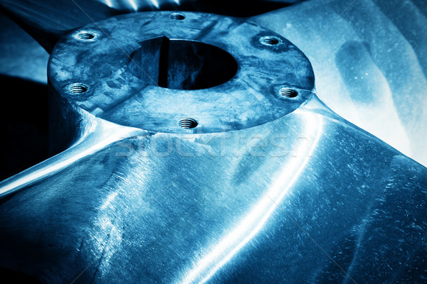 Heavy industrial shipbuilding element close-up. Industry Stock photo © photocreo