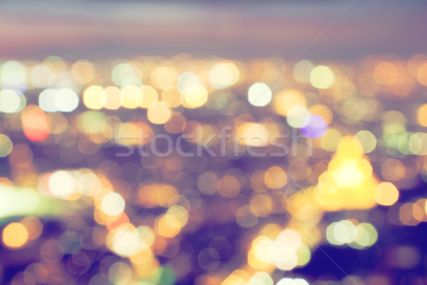 Bokeh, blur of a big city lights at night. Nightlife background Stock photo © photocreo