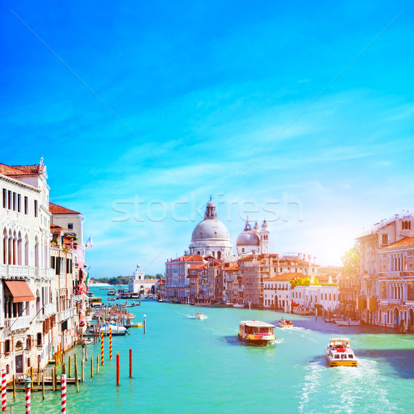 Venice, Italy. Grand Canal and the Salute Stock photo © photocreo