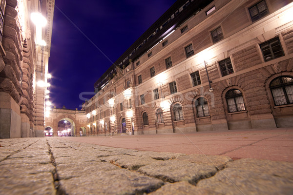 Stockholm İsveç gece gökyüzü ev Stok fotoğraf © photocreo