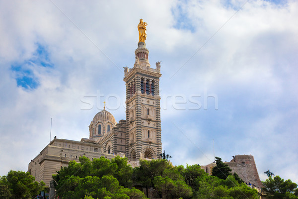 Lady la Marseille Frankrijk stad reizen Stockfoto © photocreo