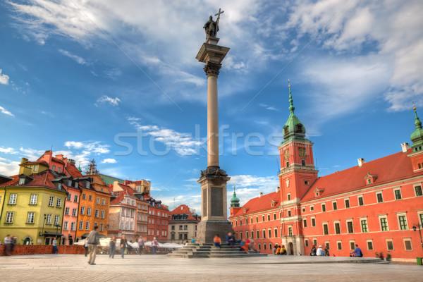 旧市街 ワルシャワ ポーランド ロイヤル 城 列 ストックフォト © photocreo