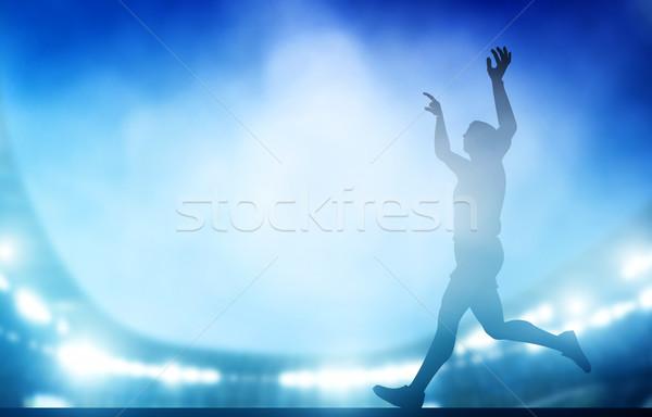 仕上げ 実行 スタジアム 1泊 ライト 陸上 ストックフォト © photocreo