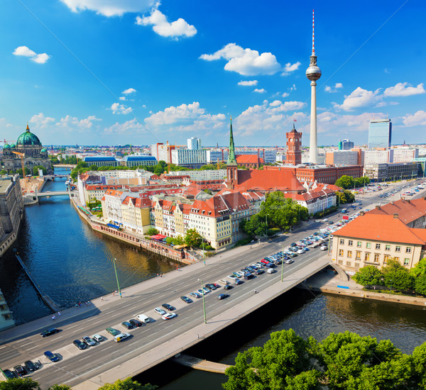 Berlin, Germany view on major landmarks Stock photo © photocreo