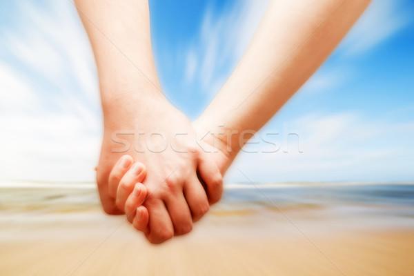 Para miłości strony słoneczny plaży wakacje Zdjęcia stock © photocreo