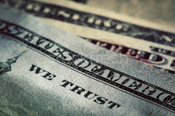 In God We Trust motto on One Hundred Dollars bill Stock photo © photocreo