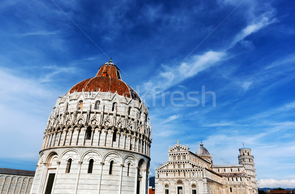 Pisa Cathedral with the Leaning Tower of Pisa, Tuscany, Italy Stock photo © photocreo