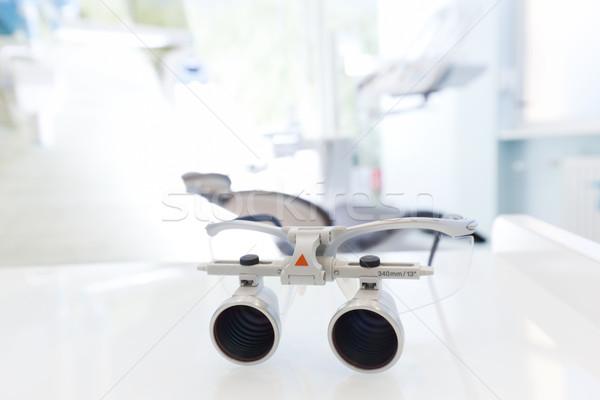 Fogorvos védőszemüveg szemüveg fogorvosok iroda fogászati Stock fotó © photocreo
