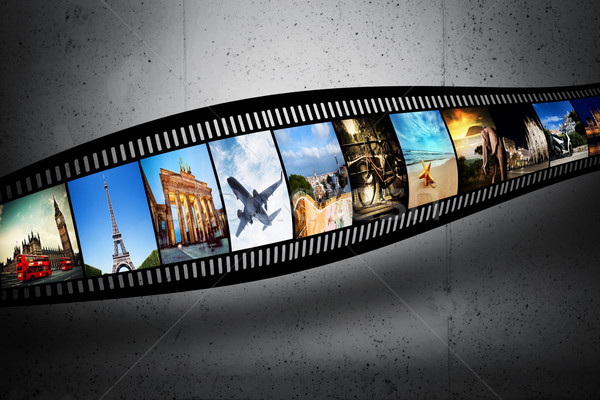 Сток-фото: кинопленка · красочный · фотографии · Гранж · стены