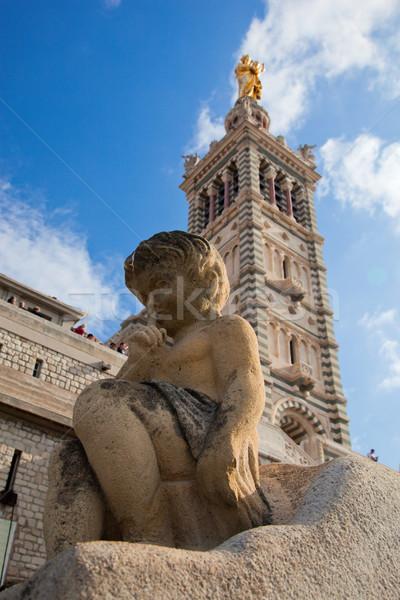 Hölgy LA Marseille Franciaország város utazás Stock fotó © photocreo