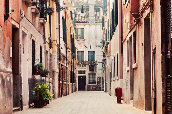 A narrow, old street in Venice, Italy Stock photo © photocreo