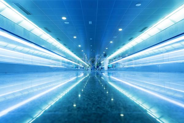 Modern geometric business interior in blue tint. Stock photo © photocreo