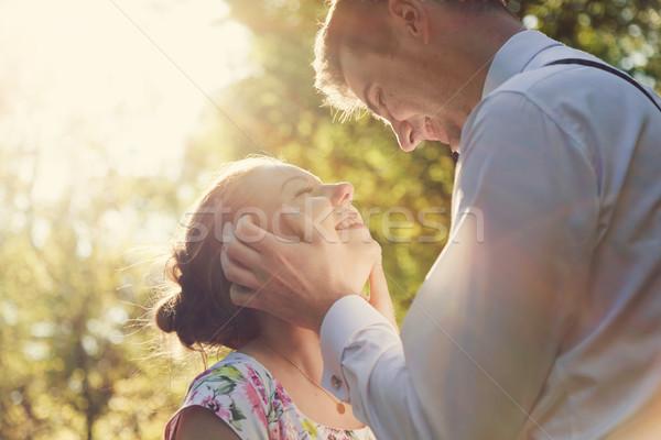 小さな ロマンチックな カップル 日照 ヴィンテージ ストックフォト © photocreo