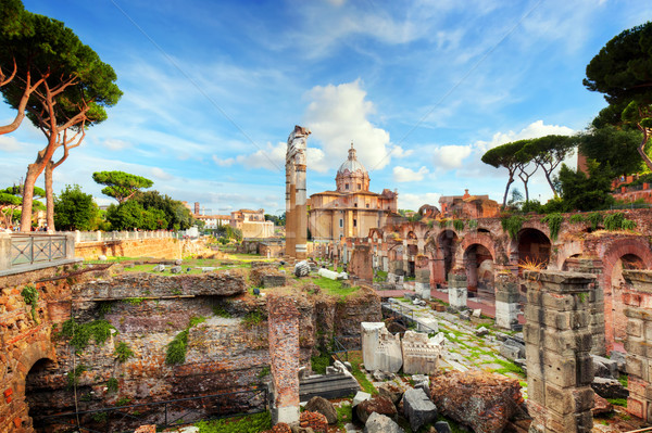 Roman Forum italian Roma Italia ruine Imagine de stoc © photocreo