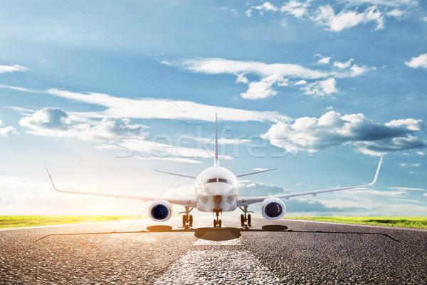 Samolot gotowy samolotów linia lotnicza Zdjęcia stock © photocreo