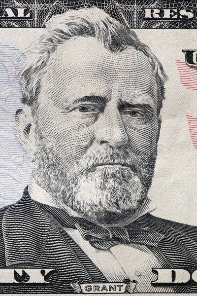Ulysses S. Grant portrait on a twenty dollar bill.  Stock photo © photocreo