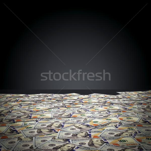 Jeden sto Dolar czarny ściany Zdjęcia stock © photocreo