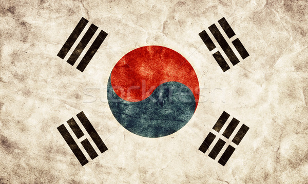South Korea grunge flag. Item from my vintage, retro flags collection Stock photo © photocreo