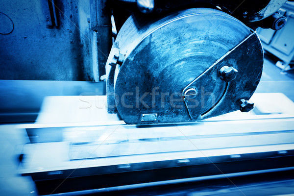 Big metal saw at work in workshop. Industrial Stock photo © photocreo
