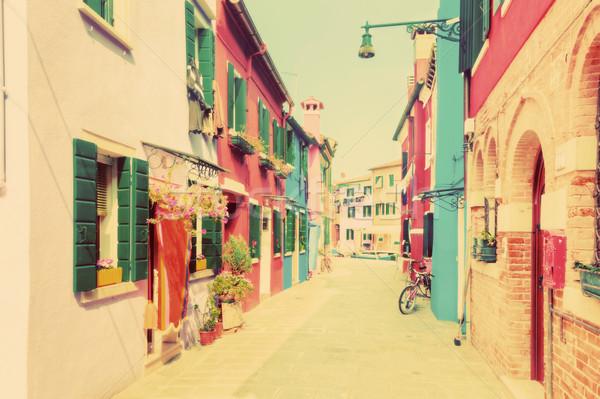 Colorido casas Venecia Italia vintage pastel Foto stock © photocreo