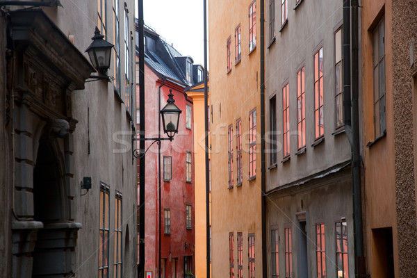 Stockholm, Sweden. Building in the old town Stock photo © photocreo