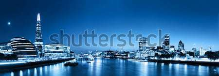 London skyline panorama at night, England the UK. River Thames,  Stock photo © photocreo