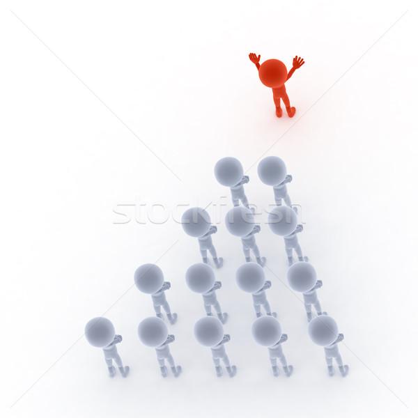 équipe commerciale leader personnes 3D peu fond Photo stock © photocreo