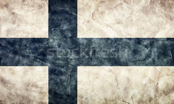 Finland grunge vlag item mijn vintage Stockfoto © photocreo