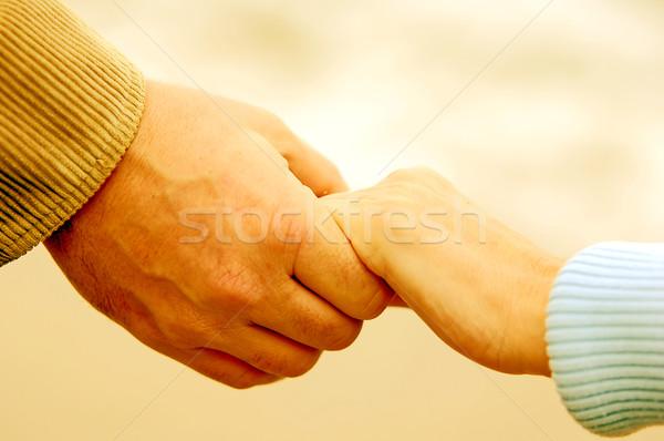 Sempre juntos oceano mulher paisagem casal Foto stock © photocreo