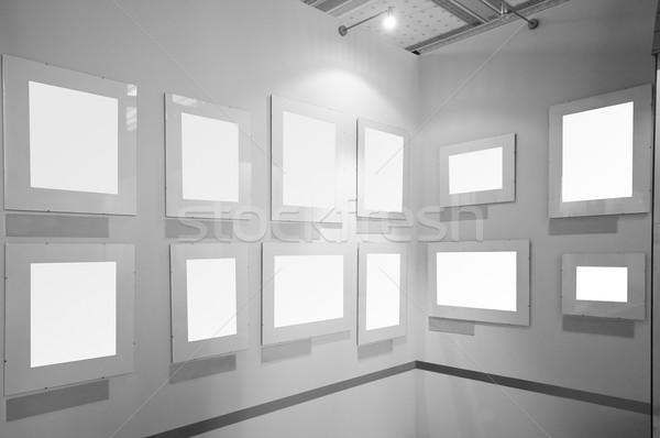 Zdjęcie ramki galeria sztuki ściany farby ramki Zdjęcia stock © photocreo