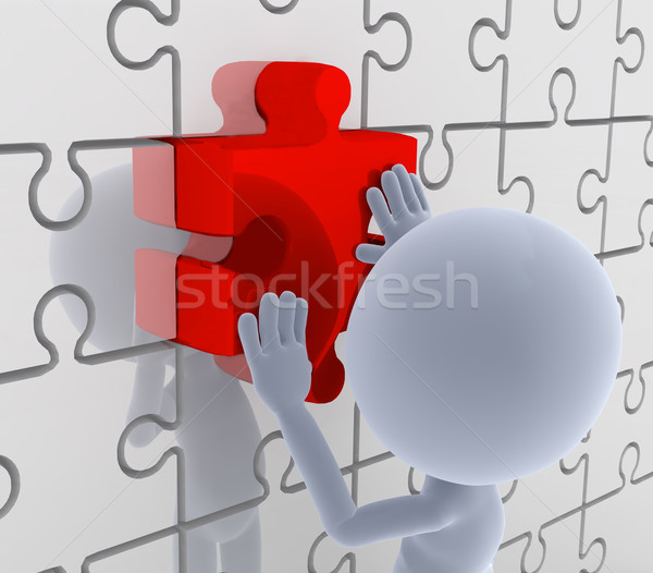 Puzzle, jigsaw matching. Solution, idea concepts. Stock photo © photocreo