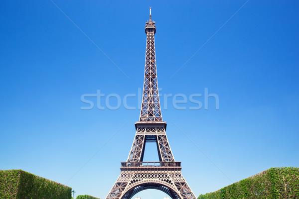 Эйфелева башня Париж Франция Солнечный лет день Сток-фото © photocreo