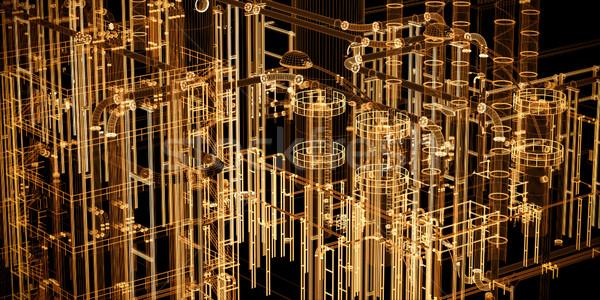 Absztrakt ipari technológia szalag mérnöki szerszámok Stock fotó © photocreo