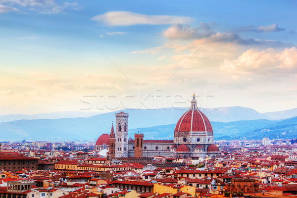 Stock photo: Florence, Italy skyline. Cathedral of Saint Mary of the Flowers