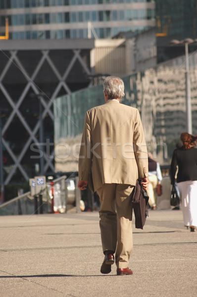 Affaires travaux supérieurs femme bâtiment homme Photo stock © photocreo