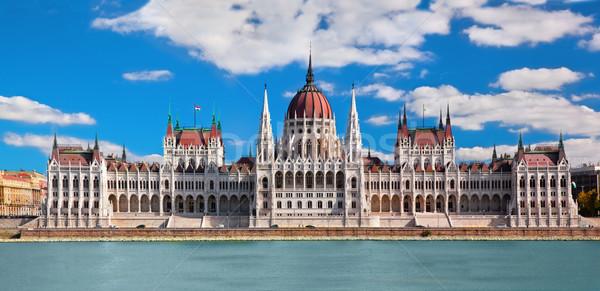 ハンガリー語 議会 ブダペスト ハンガリー 建物 ドナウ川 ストックフォト © photocreo