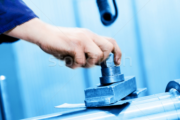 Drilling and boring machine at work. Industry, industrial Stock photo © photocreo