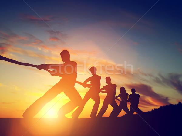 Persone gruppo squadra line giocare guerra Foto d'archivio © photocreo