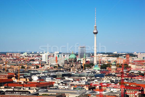 ベルリン パノラマ 大聖堂 テレビ 塔 先頭 ストックフォト © photocreo