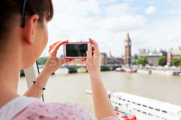 женщину фотографий большой Бен Лондон смартфон Сток-фото © photocreo