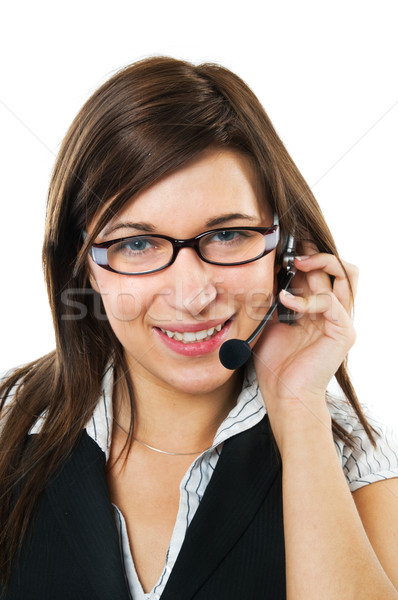 優しい 顧客サービス エージェント 笑みを浮かべて 電話 会話 ストックフォト © photocreo