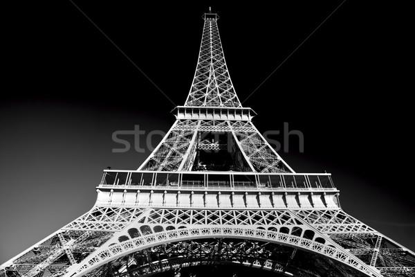 Eyfel Kulesi artistik siyah beyaz Paris Fransa avrupa Stok fotoğraf © photocreo
