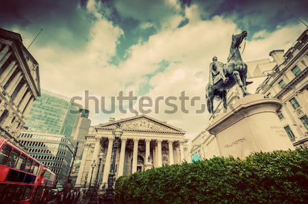 Banka İngiltere kraliyet değiştirme Londra Wellington Stok fotoğraf © photocreo