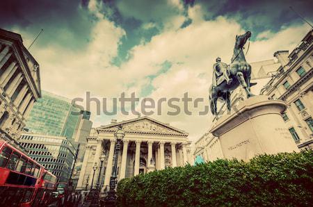Banca Inghilterra reale scambio Londra Wellington Foto d'archivio © photocreo