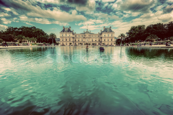 The Luxembourg Palace in Luxembourg Gardens in Paris, France. Stock photo © photocreo