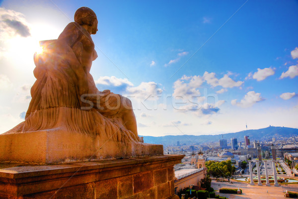 Barcelona view from Catalunya National Museum of Art Stock photo © photocreo