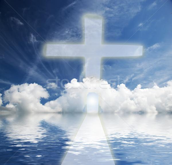 способом небо Новая жизнь религии небе солнце Сток-фото © photocreo