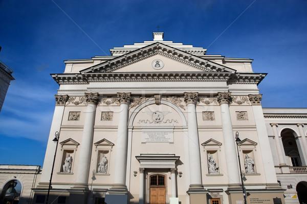 教会 ワルシャワ ポーランド 表示 フロント ストックフォト © photocreo