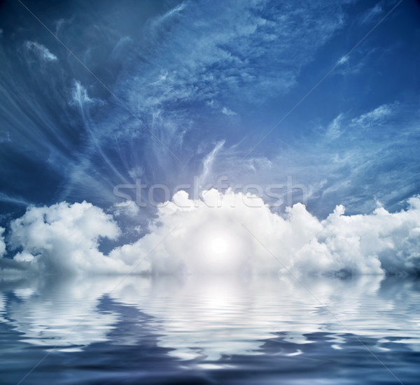 Divine sky, heaven. Conceptual entrance to new life Stock photo © photocreo